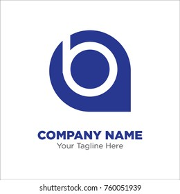 letter b location logo design