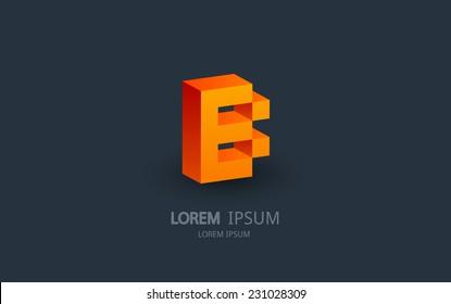 Letter B logo. Alphabet logotype vector design.