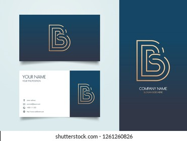 Letter B Logo with Business Card