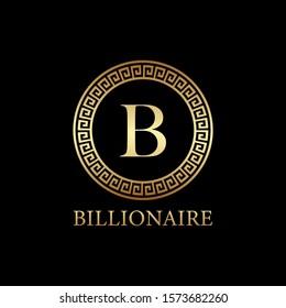 letter b logo design, icon design template elements,