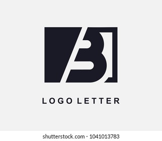 Letter B Logo Design With Square