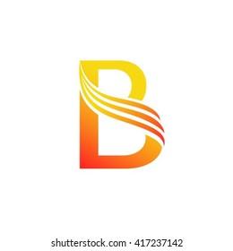 Letter B logo design template.