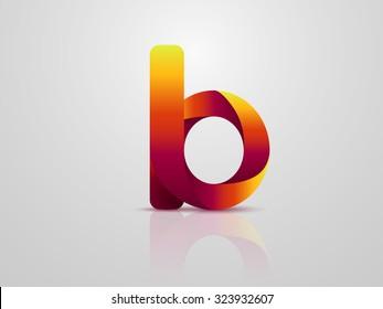 Letter B. Logo design. Vector illustration