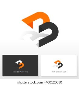 Letter B logo design. Vector sign. Business card templates.