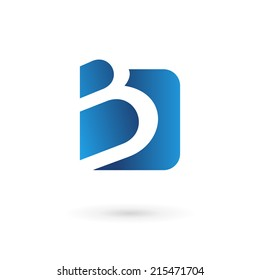 Letter B logo icon design template elements. Vector color sign.