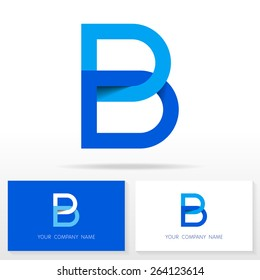 Letter B logo icon design template elements - Illustration. Letter B logo icon design - vector sign. Business card templates.