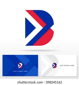 Letter B logo icon design template elements. Business cards.