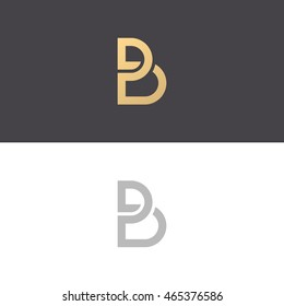 Letter B logo icon design template elements - vector sign.