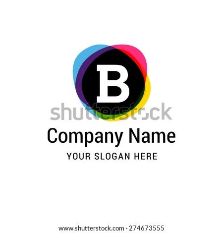 letter b logo icon design alphabet stock vector royalty free