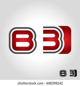 letter b logo, icon and symbol vector illustration