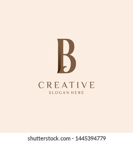 Letter B Logo. Initial Letter Design Vector Luxury Colors