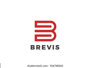 Letter B Logo Luxury design vector template Linear. Type Character Symbol Logotype