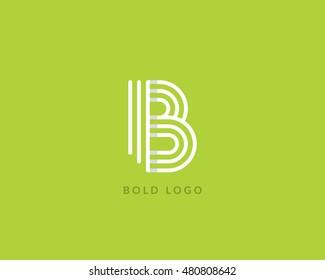 """Letter """"B"""" logo monogram. Creative line art design. Eps10 Vector line logotype."""