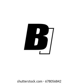 letter B and I logo overlapping black negative