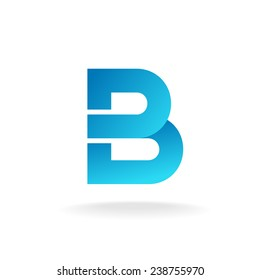 Letter B logo template. Construction building element style.