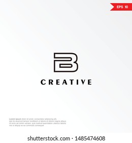 Letter b modern logo and icon, vector template.