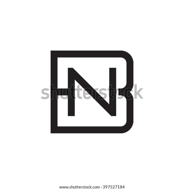 Letter B N Monogram Square Shape Stock Vector Royalty Free 397527184