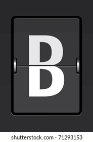 letter b on a mechanical timetable