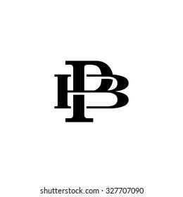 letter B and P monogram logo