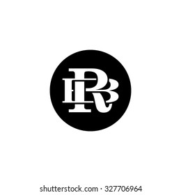 letter B and R monogram circle logo