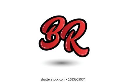 letter B and R monogram logo