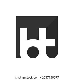 letter B and T vector logo