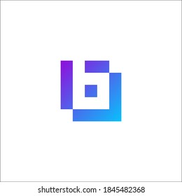 Letter B technology smart and modern a slick logo for a web and mobile app growth platform.