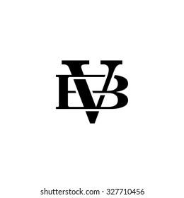 letter B and V monogram logo