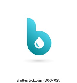 Letter B water drop logo icon design template elements