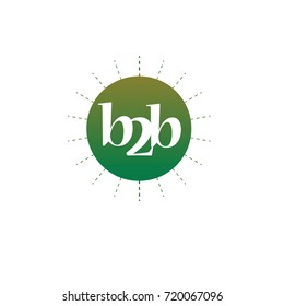 letter b2b with circle color element design