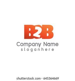 Letter B2B element logo design