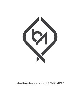 Letter BA logo icon flat and vector design template