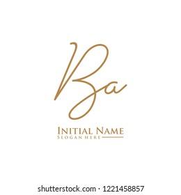 Letter Ba Logo. Initial Letter Design Vector Luxury Colors [Converted]
