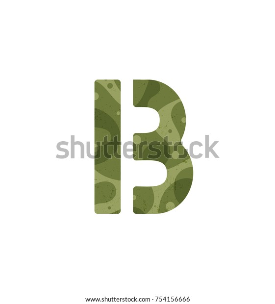 Letter Barmy Alphabet Military Font Element Stock Vector