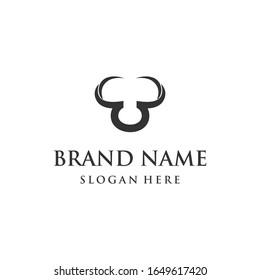 Letter BB Horned Taurus Abstract Monogram Creative Business Modern Logo