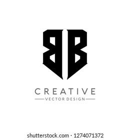Letter BB Logo. Initial Letter Design Vector Luxury Colors