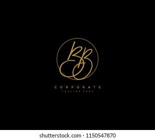 Letter BB Logo Manual Elegant Minimalist Signature Logotype