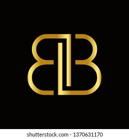 letter bb logo vector template