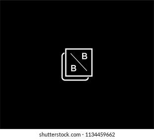 Letter BB Shape Minimalist Modern Logo