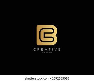 Letter BC CB Logo Design, Creative Minimal BC CB Monogram In Gold Color
