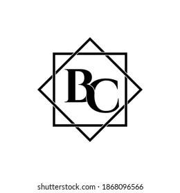 Letter BC luxury logo design vector