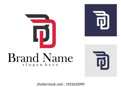 Letter BD logo vector template. Initial BD logo design concept. creative design
