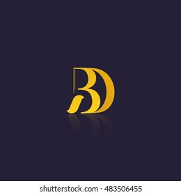 Letter BD that can be used as initial logo