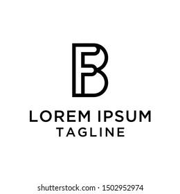 Letter BF,FB, Logo Design Template