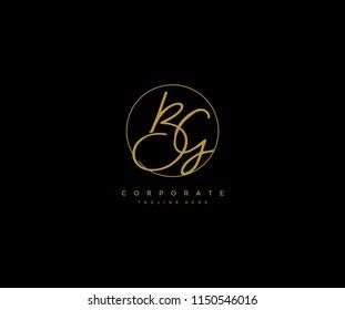 Letter BG Logo Manual Elegant Minimalist Signature Logotype