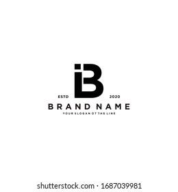 letter BI logo design vector template