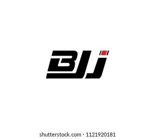 Letter BJJ Minimal Sport Logo Template