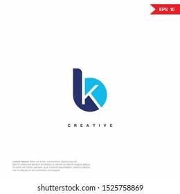 Letter BK KB Logo icon design. Premium Line Alphabet Monochrome Monogram emblem. Vector graphic design template element. Graphic Symbol for Corporate Business Identity.