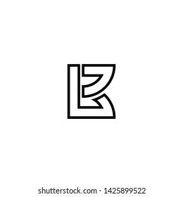 LETTER (BL), BLACK AND WHITE LOGO