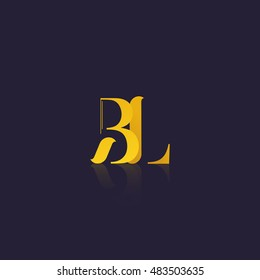 Letter BL that can be used as initial logo